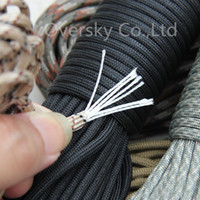 Wholesale 108 colors New Paracord Paracord Parachute Cord Lanyard Rope Mil Spec Type III Strand100FT Climbing Camping