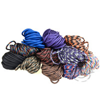 Wholesale HOT Paracord Rope Mil Spec Type III Strand Parachute Cord Lanyard ft Jungle CAMO