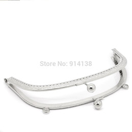 Wholesale 2 Metal Frame Kiss Clasp Arch For Purse Bag Silver Tone cm x cm Can Open Size cm x cm B01655