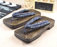 Wholesale 2015 new arrival shoes Square Toe and Heel Geta Men s Carbon Color slipper male flip flops clogs