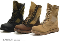 Wholesale new Military Boots outdoor Desert Tan combat army boots male shoes Mens Tactical Police boot colors size39
