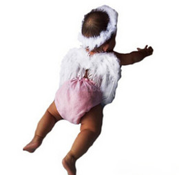 Wholesale New set Infant Newborn Photo Prop Baby Kids Angel Fairy Feather Wing Costume for Children s Christmas Present Items BZ870565