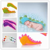 baby dinosaur costumes - 6 Colors New Infant Velvet Dinosaur Kids Photography Props Costume Warm Baby Clothing Set DIV
