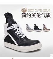 Wholesale New Rick men s genuine leather boots fashion casual shoes men s casual hight sneakers
