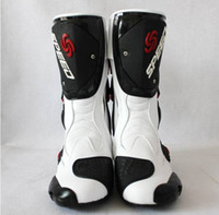 automobile patent - high quality pro biker motorcycle speed shoes automobile race boots off road boots competition shoes