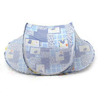 baby bedding boats - New Baby Foldable Safty Mosquito Net Boat Style Playpen Shade Travel Tent Bed Blue
