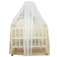 Wholesale Canopy Nets For Baby - Wholesale-Hot sale Baby Infant Bed Mosquito Mesh Dome Curtain Net for Toddler Crib Cot Canopy 1pcs