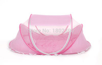 yurts - new blue baby crib mattress pillow mosquito net canopy tent folding portable bed nets yurts Parure