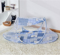 Wholesale baby bed mosquiteiro de bebe baby bed mosquito net child mosquito net folding yurt belt mount
