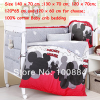 Wholesale Size cover for pc mickey mouse crib bedding sets for kids baby cribs for mickey mouse print bedding sets baby care bed