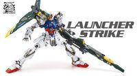 gundam - Brand New am Launcher Strike With Sword and Gun Action Figure Anime Assembled Robot MG RM Model Kids Gift