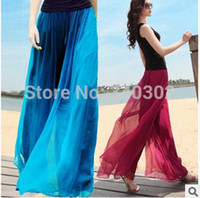 Wholesale 2015 Yoga pants casual women s wide leg pants skorts culottes elastic waist Belly Dance female trousers Bohemian
