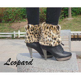 5Pairs Lot 15cm Girl Women's Faux Fur Lower Shoes Ankle Leg Warmer Boot Sleeves Cover Multi Colors Free Shipping 31
