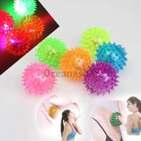 ball bouncing sound - Flashing Light Up Balls LED High Bouncing Balls Novelty Sensory Hedgehog Ball Sound Toy Ball BHU2
