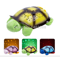 best small projectors - children best gift Starry sky projector lamps child baby plush toy turtle lamp light sleep small night light birthday gift