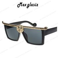 anna fashion designer - Hot selling Medusa Anna Karin Karlsson men sunglasses Gold D Lion fashion brand designer sun glasses eyewear oculos masculino