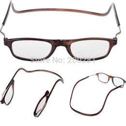 Wholesale Folding Reading Glasses Magnets Magnifying Reading Glasses Magnetic Front Connect Unisex Eyeglasses Hang Folding Quality Reader