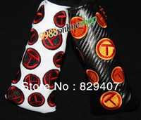 Wholesale New High Quality PU Leather Tour Rat Black White Color T Putter Headcover golf Cover