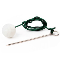 golf balls - Hot Rope Golf Driving Ball Swing Hit Practice Training Aid Retractable Golf Ball Rope