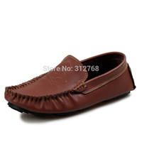 autumn drive - 4 color Autumn fashion Men s skull loafers slip on driving moccasin boat shoes leather flats for men casual shoes discount
