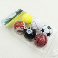 golf driving range - Wholesales Soccer Golf Sports ball With Multi Color Two Layer Golf Driving Range Ball