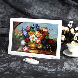 Wholesale Best sale Full view Picture Frame HD TFT LCD Digital Photo Frame Alarm Clock MP3 MP4 Movie Player