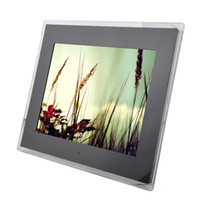audio picture frame - New inch high resolution Screen x768 electronic album Pictures Music Video Audio out Digital Photo Frame