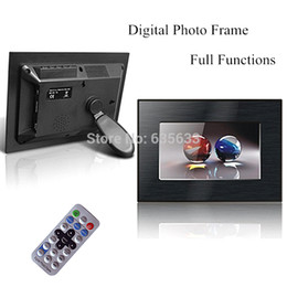 Wholesale Christmas Gift Noble Drawbench Inch Tft Lcd Led Digital Frame Photo Full Function Mp3 Movie Remote with for Sd Card