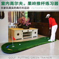 Wholesale 2016 new arrival golf putting mat office Golf Putter Trainer Practice Putting Training Mat SIZE M One putter FREE easy carried