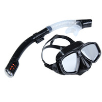 Wholesale Swimming Diving Protective Goggle and Breathing Tube Snorkeling Mask Breathing Pipe Set Swimming Diving Sets Black BHU2