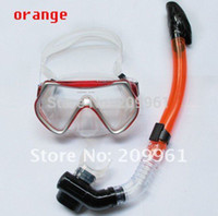 Wholesale LOYOL color combination diving mask full dry snorkel Breathing tube Under Water Swiming snorkel set