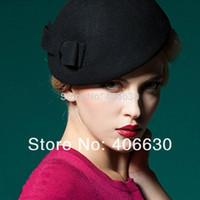 Wholesale winter women wool felt beret hat girl s fedora hat chapeu feminino lady dress hats accept paypal