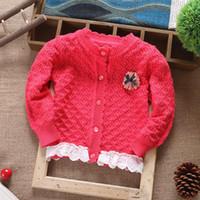 bebe outerwear - 2015 New Autumn children sweater girls Hollow crochet coats outerwear colors100 cotton cardigan top outerwear bebe clothing
