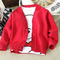 Wholesale Uniform School Kids Cardigan for Girls amp Boys Brand Children Sweater long sleeve Outerwear Coat Girl Boy Jackets Schoolwear Free S