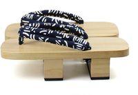 Wholesale Men s Japanese Double Heel Wood Geta sandals wooden clogs for men Men s Casual Flip Flops Sandals wooden clogs