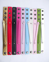 Wholesale 50pcs mm PU Leather Wristband Fit mm Slide Letters DIY Accessories
