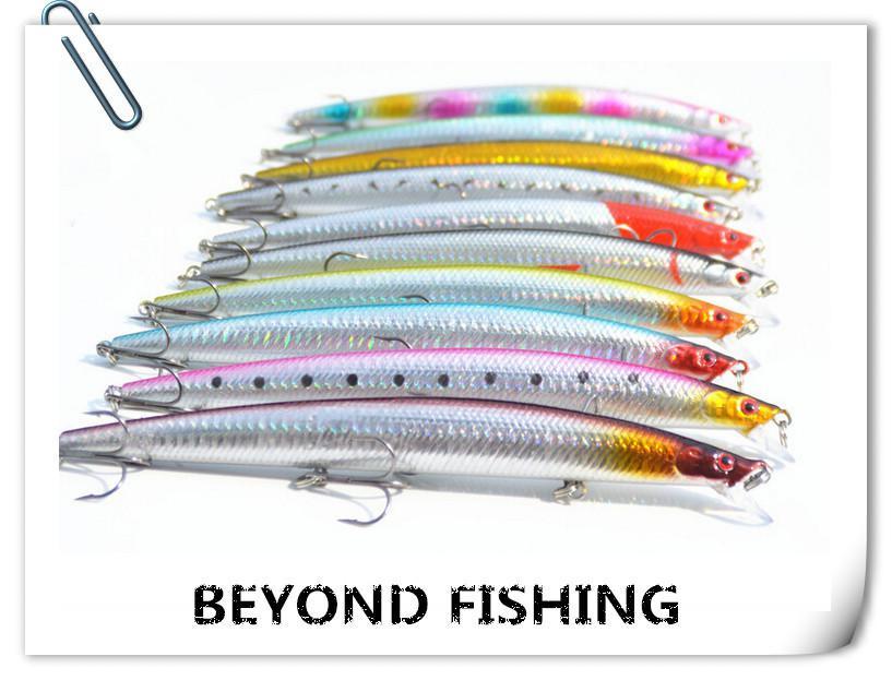 minnow fishing lure 18cm 26g plastic deep sea fishing bait, Reel Combo