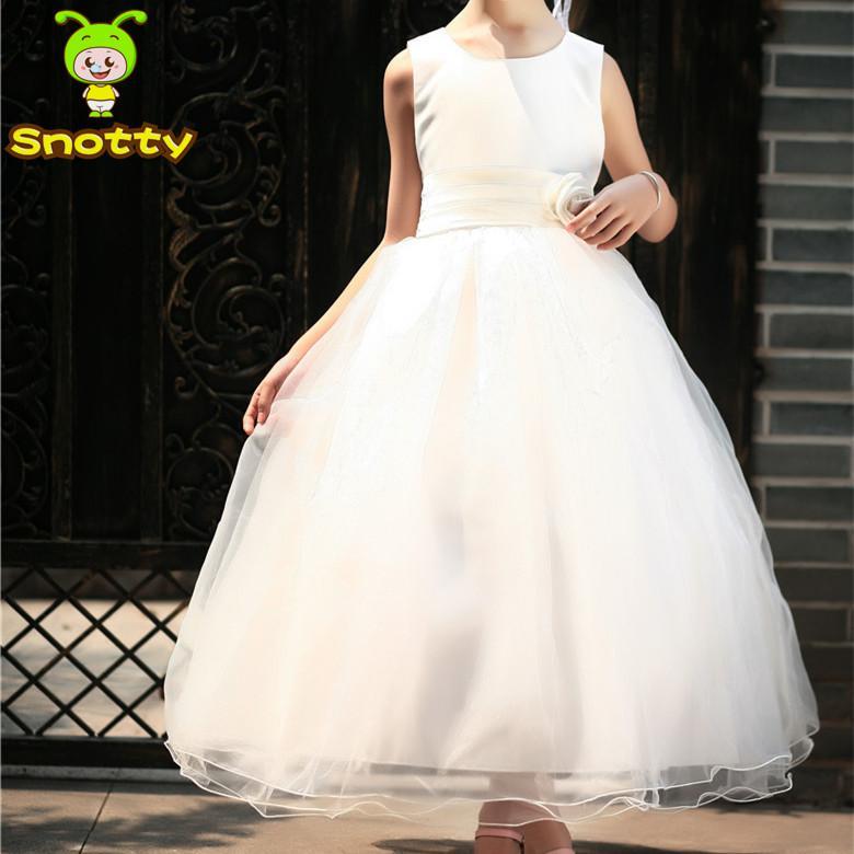 Wholesale Plain White Latest Dress Designs For Flower Girl ...