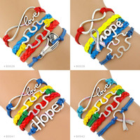 autism puzzle ribbon - Autism Speaks Bracelet Infinity Love Autism Awareness Jigsaw Ribbon Puzzle Pieces Hope Red Yellow Blue Green Custom