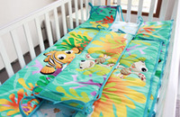 bedding dust ruffles - 8 Pieces Crib Baby Bedding Set Finding Nemo Baby Nursery Cot Ropa de Cama Crib Bumper Quilt Fitted Sheet Dust Ruffle for Newborn