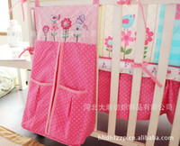 baby butterflys - 7 Baby Kit Crib Cot Bedding Sets Comforter Bumpers Sheet Dust Ruffle Nappy Bag Pink Birdie Owls Butterflys Flowers for Girls