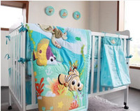 baby wall appliques - 2015 new Applique baby bedding crib set quilt bumper mattress cover bedskirt nappy bag wall hanging Nemo