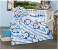 baby crib coverlets - 3PCS Cotton Kid Baby Children Bedding Set Product Infant Cartoon Quilt Cover Bed Sheet Coverlet Pillowcase for Crib Cradle