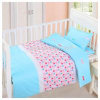 baby crib duvet - baby crib bed linen cotton baby bedding set baby girls and boys bedclothes pillowcase duvet cover sheet set