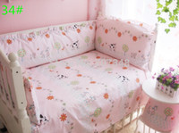 Wholesale Crib Bedding Set Hot Baby embroidered Suite Piece Baby Bedding Set is Tasted Suite Can Unpick and Wash Baby Bed Wai