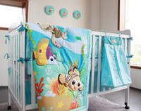 baby bedding world - 2015 New The undersea world pattern baby bedding sets Items quilt bumper mattress cover bedskirt nappy bag Nemo