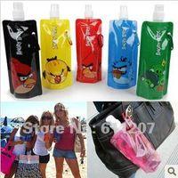 20pcs / lot gros Portable sport pliables bouteille d'eau 480ml style aléatoire Livraison gratuite par la poste aérienne China Post