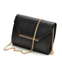 Wholesale 2015 New fashion classic black envelope crossbody bag ladies small handbag female shoulder evening bags women clutch bolsa