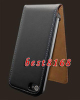 Leather iphone4s cell phone - Genuine Real Luxury Leather flip Case skin cases pouch clip belt pouches for iphone g th S Iphone4S cell phone accessories Purse