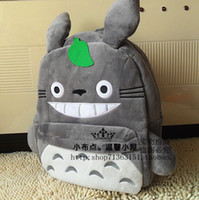 backpack old school - The original Hayao miyazaki totoro students bag Backpack college students high school pupils backpack plush doll years old